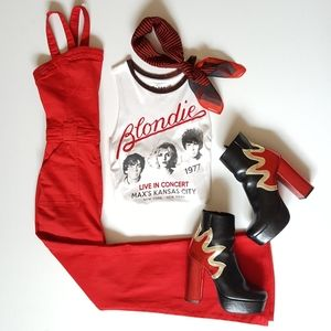 Blondie Red Velvet Tank